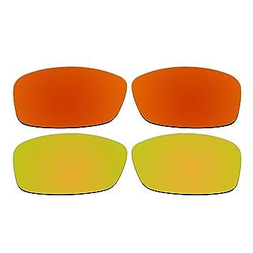 Gafas de sol polarizadas, color rojo y oro lentes de repuesto para Oakley Hijinx