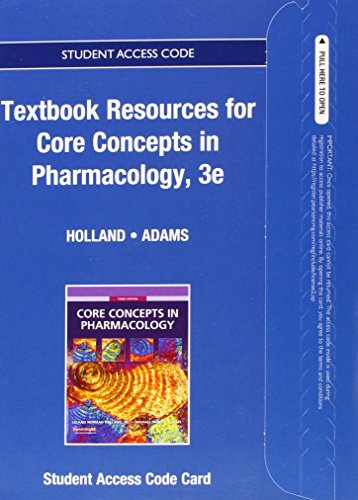 Textbook Resources for Core Concepts in Pharmacology -- Access Card