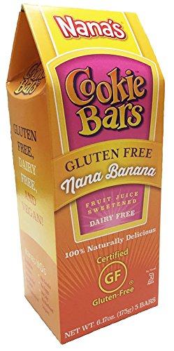 Nana's Gluten Free Nana Banana Cookie Bars, Net Wt 6.17 Oz. Boxes, 5-Count Bars (Pack of 8)