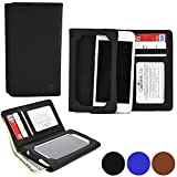 Cooper Cases(TM) Infinite Wallet Motorola DROID Maxx / DROID Ultra Case in Black (PU Canvas Cover, Built-in Screen Protector, Card Slots, ID Holder, Billfold)