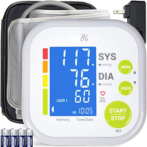Greater Goods Blood Pressure Monitor Cuff Kit by Balance, Digital BP Meter with Large Display, Upper Arm Cuff, Set Also…
