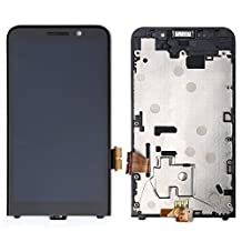 Digrepair Fr Blackberry Z30 4G Version Full LCD Display Touch Screen Glass Digitizer+ Frame + Free Tools (Black)
