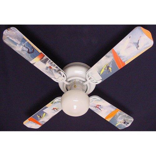 Ceiling Fan Designers Ceiling Fan, Radical Surfing Surf Waves, 42