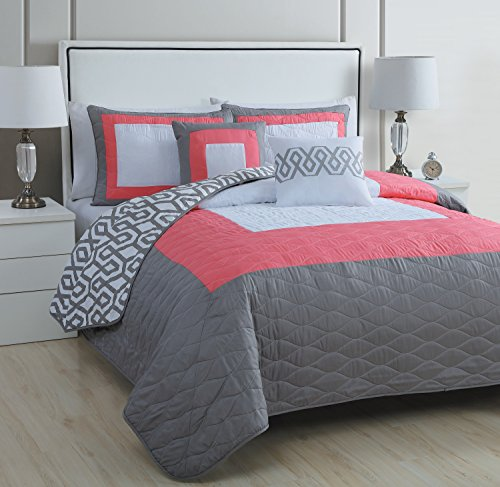 Coral And Gray Bedding Amazon Com