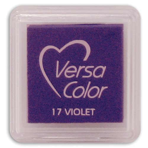 Tsukineko Small-Size VersaColor Ultimate Pigment Inkpad, Violet (Cubes Versacolor)
