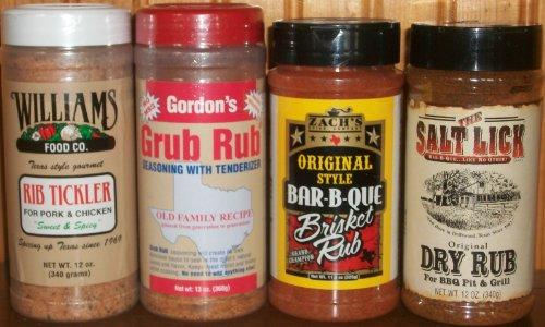 texas-rub-seasoning-sampler-pack-of-4-salt-lick-original-rub-grub-rub-zachs-bbq-brisket-rub-williams