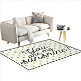 Best Sunshine Canister Vacuums - Floor Mat,Motivational Sunshine Quote Inspiration Print Colorful Raindrops Review