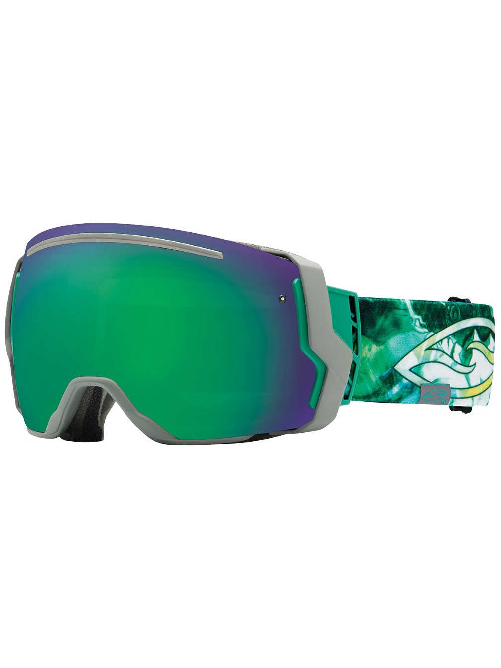 Smith Optics I/O7 Vaporator Series Snocross Snowmobile Goggles Eyewear - Lago Thorns/Blackout/Red Sensor / Medium