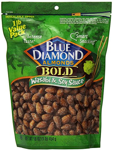 Blue Diamond Almonds  Bold  Wasabi & Soy Sauce, Value Pack, 16-Ounce (Pack of 3) ()