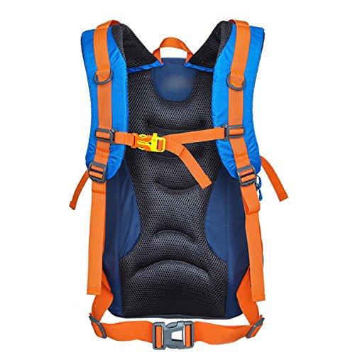 LQABW Hombres A Prueba De Agua 50L Al Aire Libre De Múltiples Funciones Y De Las Mujeres Soportan La Luz De Gran Capacidad De Alpinismo Que Va De Excursión Paquete,Green Blue