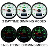 GlowShift 3in1 Analog 60 PSI Boost Gauge Kit with
