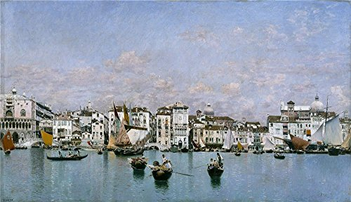 'Rico Y Ortega Martin La Riva Degli Schiavoni En Venecia 1873 ' Oil Painting, 16 X 28 Inch / 41 X 71 Cm ,printed On Polyster Canvas ,this Best Price Art Decorative Prints On Canvas Is Perfectly Suitalbe For Hallway Decor And Home Decoration And