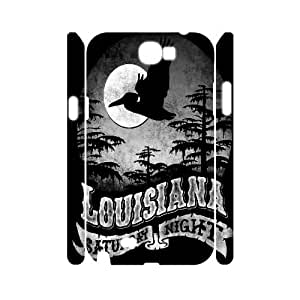 Fggcc i love louisiana Case for 3D Samsung Galaxy Note 2 N7100,i love louisiana Note2 Cell Phone Case (pattern 7)