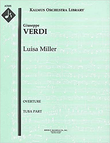 Gratis download pdf ebook Luisa Miller (Overture): Tuba part (Qty 3) [A5101] PDF ePub MOBI