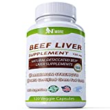 N'More Desiccated Liver Capsules, Certified 100% Grass Fed Undefatted Argentine Natural Beef Liver Supplements, 120 Capsules, 750mg per Capsule For Sale