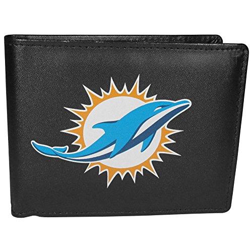 (Siskiyou NFL Miami Dolphins Mens Sportsbi-Fold Wallet Large Logo, Black, One Size )