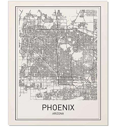 City Maps, City Map Poster, Phoenix Map Print, Phoenix Map Poster, US city Map, Map Print, Map Art Print, Arizona Print, Map Wall Art, Map Art, Modern City Art, Scandinavian Poster, 8x10