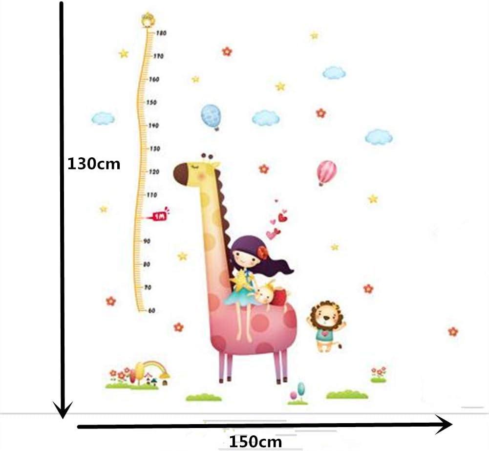 Stickers muraux D/écor /À La Maison Toise Mesure pour gar/çons et Filles Multi Styles pour Enfants Enfant Chambre D/écoration Multi-Couleur