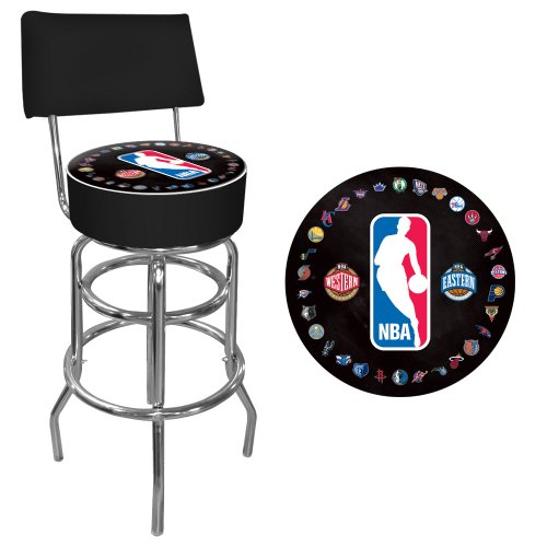 Trademark Gameroom NBA Padded Swivel Bar Stool with Back