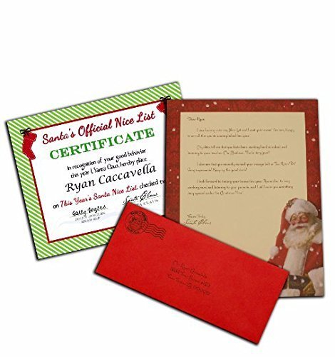 Amazon personalized letter from santa claus with an official personalized letter from santa claus with an official nice certificate spiritdancerdesigns Images