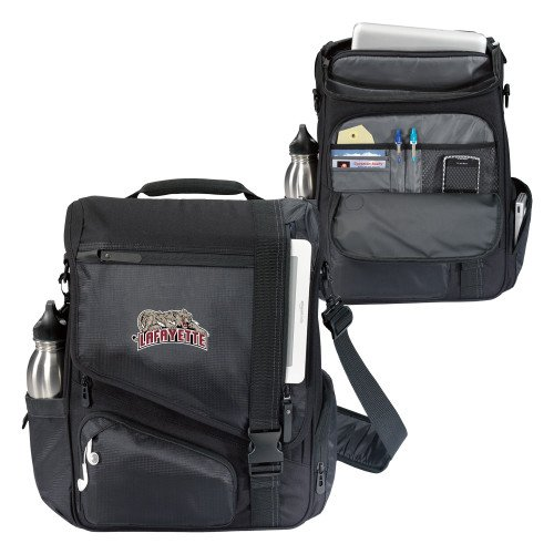 Lafayette Momentum Black Computer Messenger Bag 'Primary Mark' by CollegeFanGear