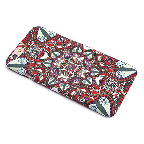 iProtect TPU Schutzhülle Apple iPhone 6, 6s Hard Case - im bunten Mandala - Atzteken - Design