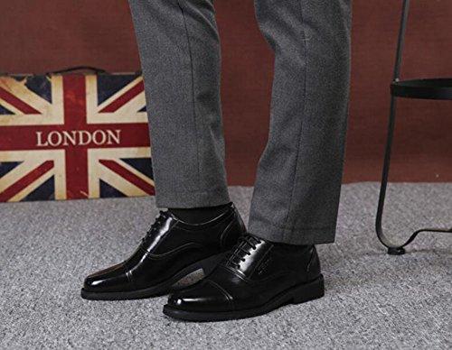da Grandi party Primavera Nero da Scarpe vera 45 in per Dimensione Scarpe formali Colore uomo lavoro pelle Autunno in da lavoro ufficio pelle dimensioni Scarpe Nero 8YtRwR