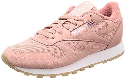 Reebok Herren Pelle Classico Estl Sneaker Rosa (gesso Rosa / Bianco)