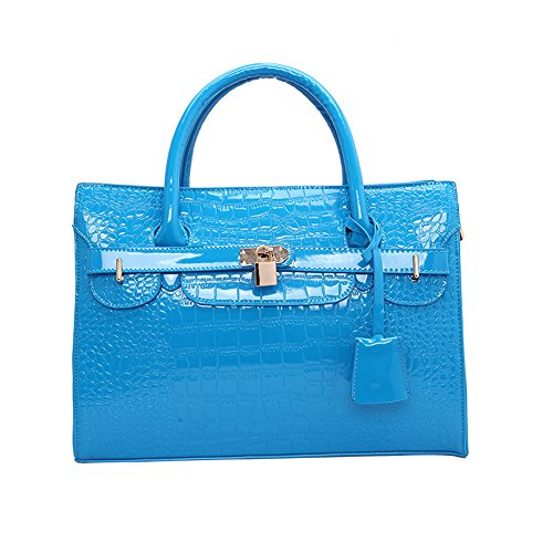 Cocodrilo Blue De Bolso Bolso Platino Meaeo Única Verano De Nueva Naranja Bandolera Moda Bolsa La txt406Y