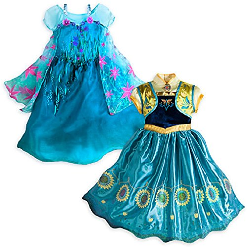 Disney - Frozen Fever 2 in 1 Costume Set - Elsa and Anna