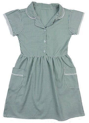 Green Gingham Dress School Uniform