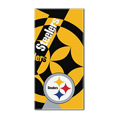 The Northwest Company Officially Licensed NFL Pittsburgh Steelers Puzzle Beach Towel, 34