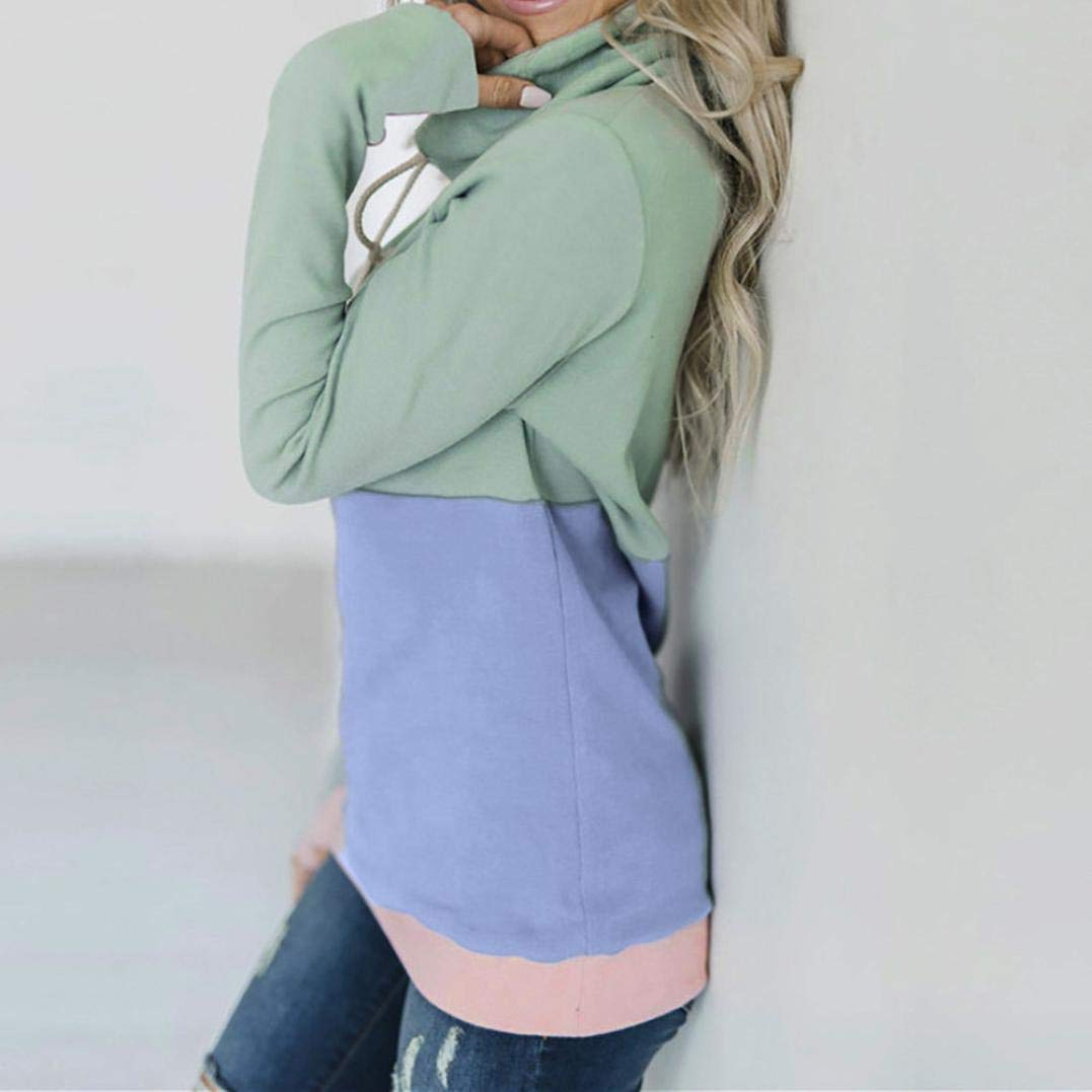 Amazon.com: Women Long Sleeve Color Block Hoodies Sweatshirt Patchwork Bow Neck Jumper Tops Fashion Autumn Blouse Shirt: Clothing