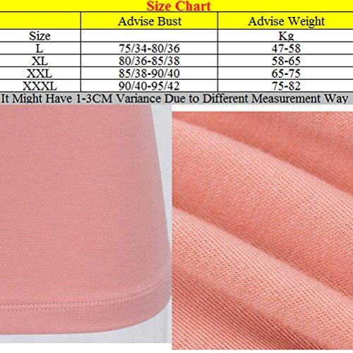 Zhhlaixing alta calidad Women Bracelet Body Sculpting Shirt Chest Pad No Steel Bra Lady Double Warm Large Size Underwear Pink