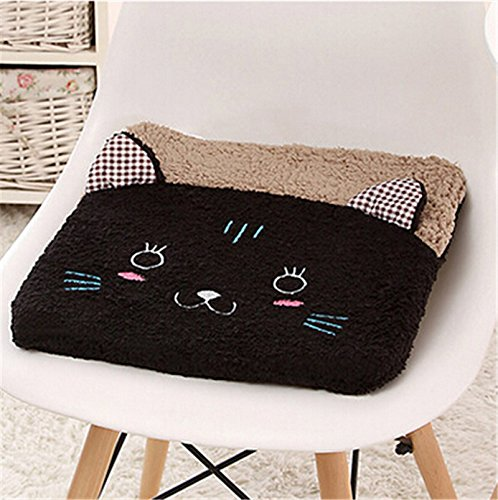 New cute plush cartoon student home seat cushion office chair seat Pad/chair Pad/ Chair Cushion/ Office Cushion/sofa Cushion/Sponge car Cushion (black cat) by Update Everyday