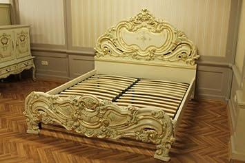Doppelbett Bett 180x200 Schlafzimmer Antik StilStil Barock Vp7731Q ...