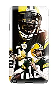 New PNECwzU3123sYwHf Greenay Packers Skin Case Cover Shatterproof Case For Galaxy Note 3