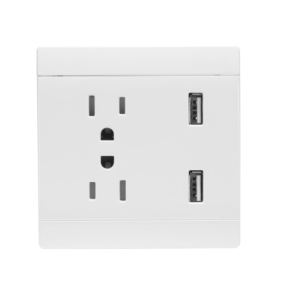 uxcell AC 110/220V 10/13A US Socket Dual USB Port Charging DC 5V 4.8A Mains Power Wall Outlet