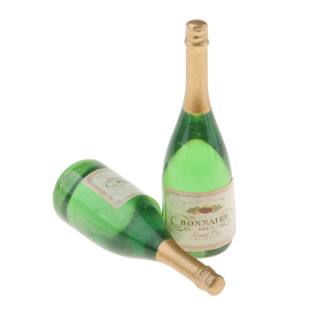 perfk 6pcs Poup/ées Miniatures Verre /à Vin en Plastique Cuisine D/écoration de Table
