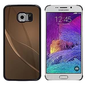 iKiki Tech / Estuche rígido - Grey Beige Bronze Reflective Abstract - Samsung Galaxy S6 EDGE SM-G925