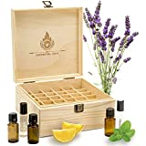 Essential Oil Wooden Box - Holds 36 Bottles (5-15ml & 10ml Rollerball Bottles)