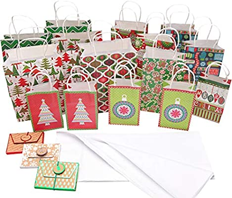 Amazoncom Small Christmas Gift Bags Bundle With Tissue