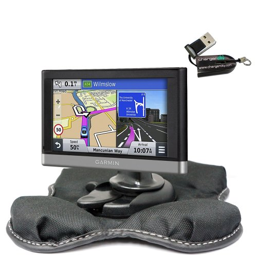 ChargerCity NonSlip Beanbag Dashboard Friction Mount for Garmin Nuvi 2557 2558 2559 2589 2597 2598 2599 2689 2699 52 54 55 56 57 58 65 66 67 68 DriveSmart Drive 50 51 60 61 LM LMT LMTHD GPS by ChargerCity (Image #2)