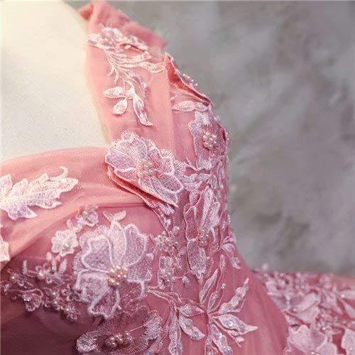 【ノーブランド品】姫系ドレス お花嫁ドレスロングドレス 演奏会 刺繍 ドレス ロング ステージ カラードレス ウエディングドレス オフショルダー ロングドレス あずき パーティードレス 礼服