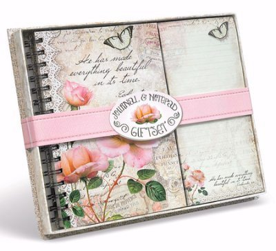 Gift Set-Vintage Rose Collection-Journal w/List - Pa Malls Outlet
