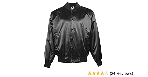 ad1276d365c Amazon.com   Augusta Sportswear Men s Satin Baseball Jacket Solid Trim    Sports   Outdoors
