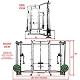 Valor Fitness BD-7 Power Rack/Squat Rack w/LAT Pull Attachment and Other Power Cage Bundle Options for a Complete Weightlifting Home Gym