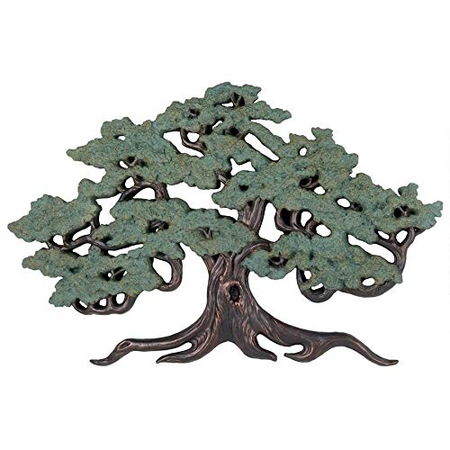 Design Toscano Asian Decor Ancient Tree of Life Wall Sculpture, 37 Inch, Bronze Verdigris Finish
