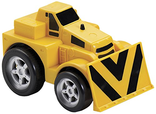 Kid Galaxy Squeezable Pull Back Bull Dozer. Toddler Construction Truck for Kids Age 2 and Up