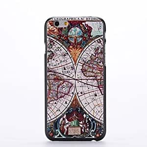 Map Design Pattern Plastic Hard Back Cover for iPhone 6 Plus